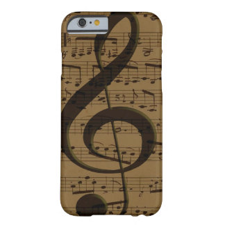 Partitura musical del Clef agudo Funda Para iPhone 6 Barely There