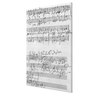 Partitura musical manuscrita impresion de lienzo