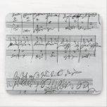 Partitura musical manuscrita tapete de raton