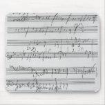 Partitura musical manuscrita tapetes de ratón