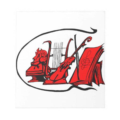 partitura roja design.png del violín del lyre del  libretas para notas
