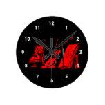 partitura roja design.png del violín del lyre del  reloj de pared
