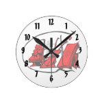 partitura roja design.png del violín del lyre del  relojes de pared