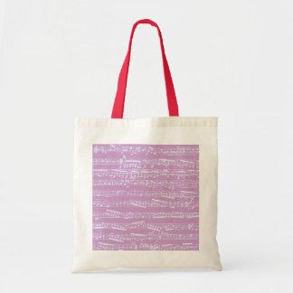Partitura rosada bolsa