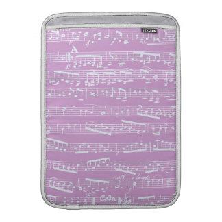 Partitura rosada funda  MacBook