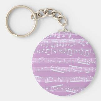 Partitura rosada llaveros personalizados