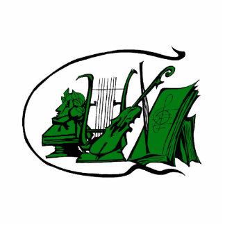 partitura verde design.png del violín del lyre del escultura fotográfica