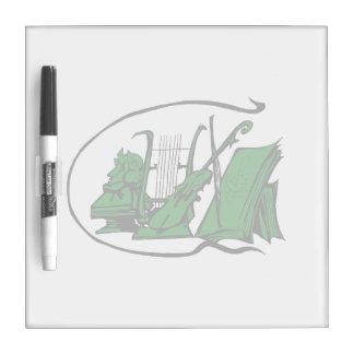 partitura verde design.png del violín del lyre del pizarras blancas de calidad