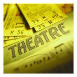 Partitura y boletos del teatro invitacion personalizada