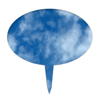 Partly Cloudy Blue Sky Cake Topper