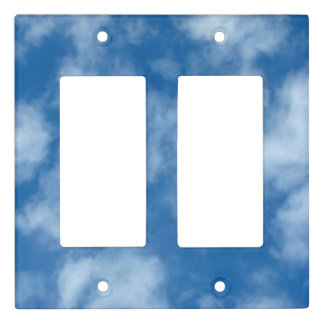 Partly Cloudy Blue Sky Light Switch Cover