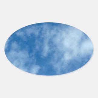 Partly Cloudy Blue Sky Oval Sticker