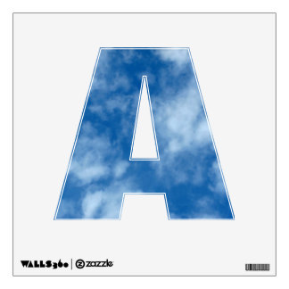 Partly Cloudy Blue Sky Photo Letter A Wall Decal