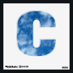 """Partly Cloudy Blue Sky Photo Letter C Wall Decal<br><div class=""""desc"""">Photo of a partly cloudy blue sky. Choose &quot;Customize&quot; to pick a different letter,  number or shape!</div>"""
