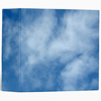 Partly Cloudy Blue Sky Photo on Binder