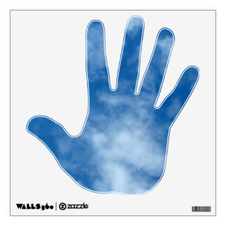 Partly Cloudy Blue Sky Photo on Hand Decal