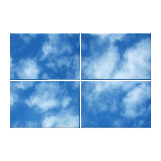 Partly Cloudy Blue Sky Photo on Wrapped Canvases Canvas Print