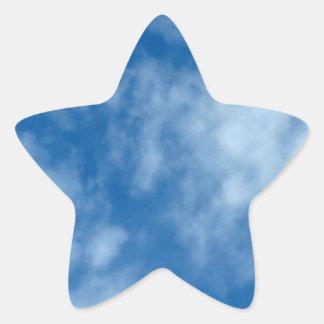 Partly Cloudy Blue Sky Star Sticker