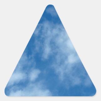Partly Cloudy Blue Sky Triangle Sticker