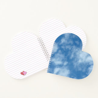 Partly Cloudy Blue Sky with Clouds Photo Notebook