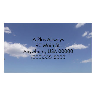 Partly Cloudy Business Cards