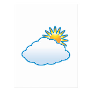 partly cloudy postcard