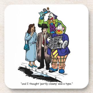 Partly Clowny Drink Coaster