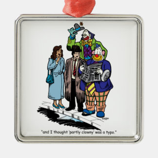 Partly Clowny Metal Ornament