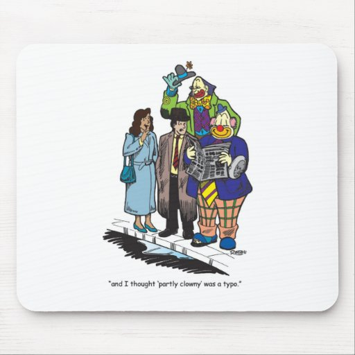 Partly Clowny Mouse Mats