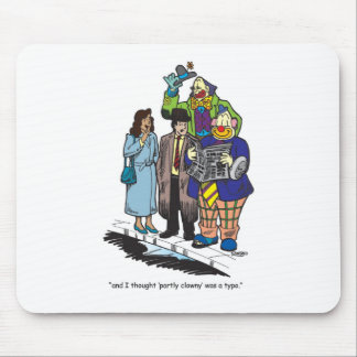 Partly Clowny Mouse Pad