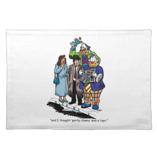 Partly Clowny Cloth Placemat