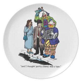Partly Clowny Plate