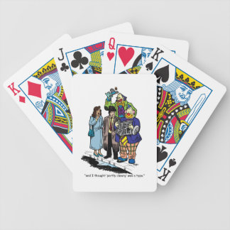 Partly Clowny Bicycle Playing Cards