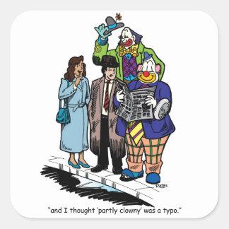 Partly Clowny Square Sticker