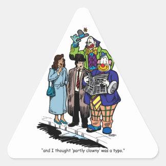 Partly Clowny Triangle Sticker