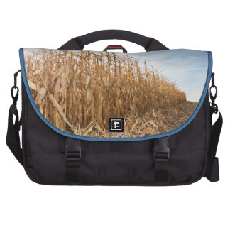 Partly Harvested Corn Field Laptop Commuter Bag