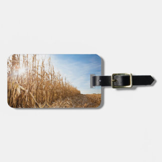 Partly Harvested Corn Field Tag For Luggage