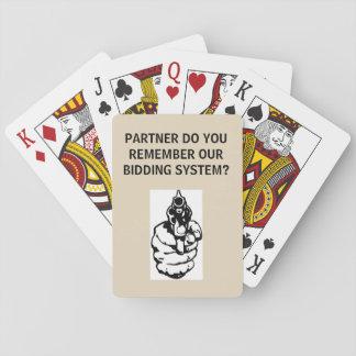 PARTNER DO YOU REMEMBER OUR BIDDING SYSTEM - CARDS