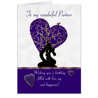 partner el diseño moderno, la púrpura y el wh de tarjeta de felicitación