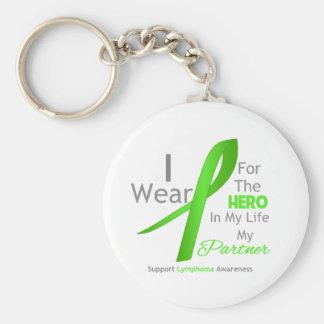 Partner Hero In My Life - Lymphoma Basic Round Button Keychain