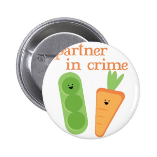 Partner In Crime 2 Inch Round Button