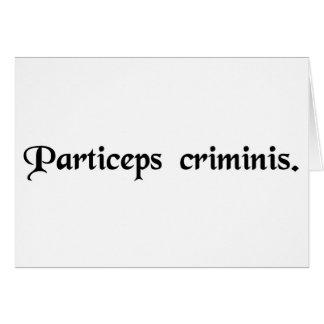 Partner in crime. card