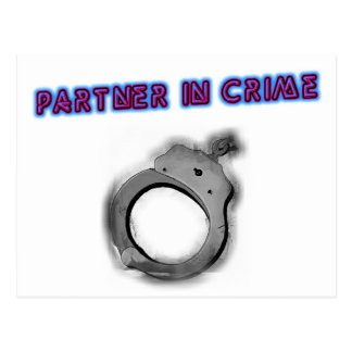 Partner In Crime Left Handcuff Postcard