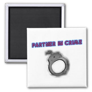 Partner In Crime Right Handcuff Magnet