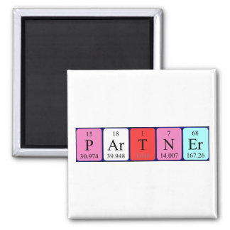 Partner periodic table name magnet
