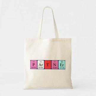 Partner periodic table name tote bag
