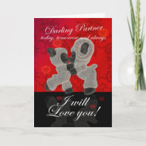 Partner Sheep Valentine's Card