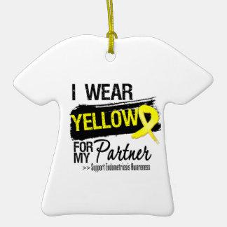 Partner Yellow Ribbon Endometriosis Ornaments