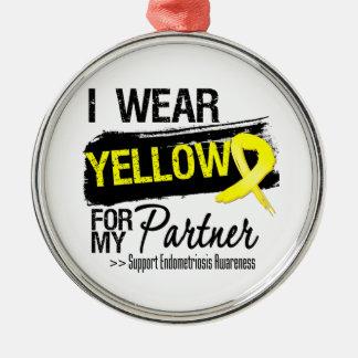 Partner Yellow Ribbon Endometriosis Christmas Tree Ornaments