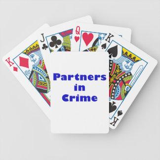 Partners - adentro - crimen baraja de cartas